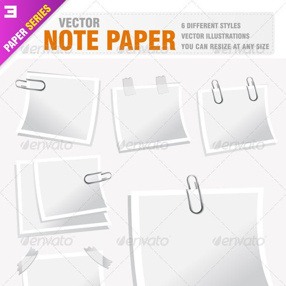 6 Note Papers