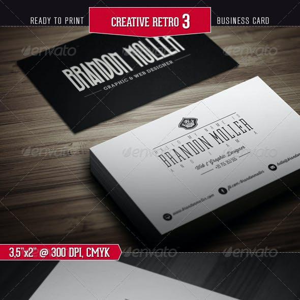 Creative Retro Business Card 3