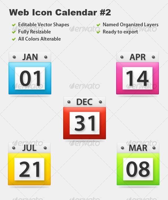 Web Icon Calendar #2 - Web Elements