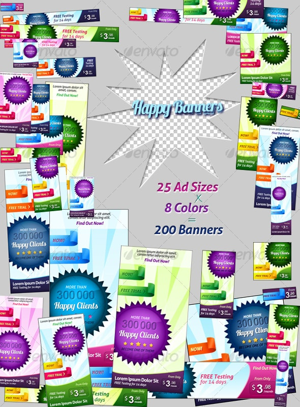 Happy Banners - Web Elements