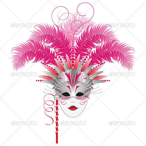 Carnival mask-Venetian-Mardi Gras - Miscellaneous Seasons/Holidays