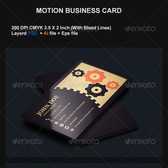 Motion Business Card