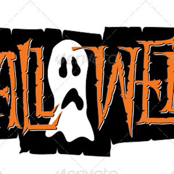 'Halloween' Hand Lettering (vector)