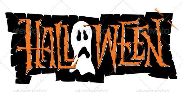 'Halloween' Hand Lettering (vector) - Halloween Seasons/Holidays