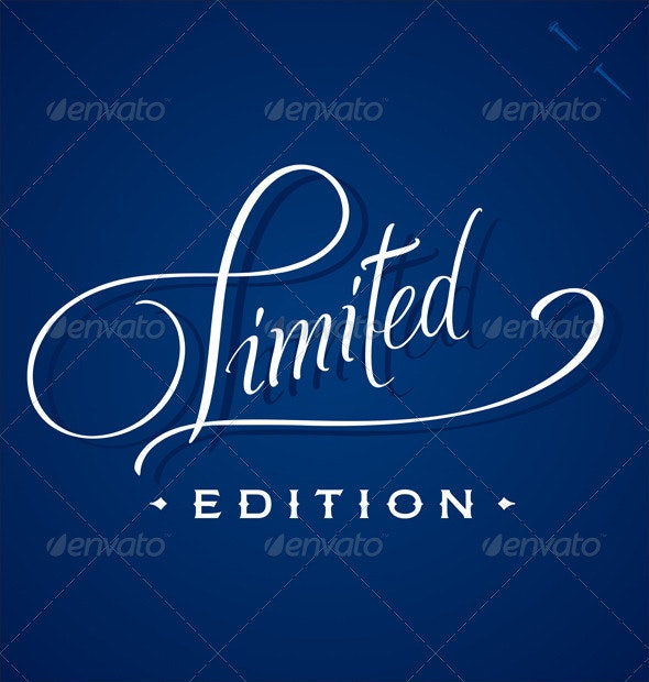 'Limited' Hand Lettering (vector) - Vectors