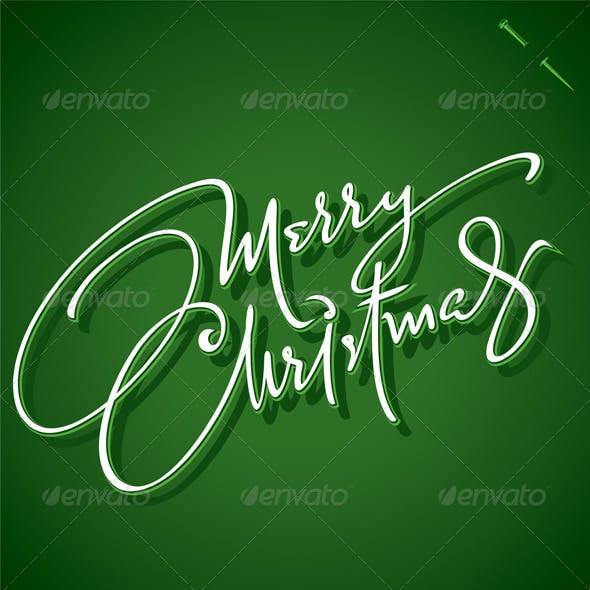 'Merry Christmas' Hand Lettering (vector)