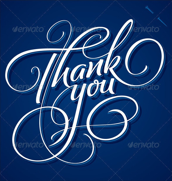 'Thank You' Hand Lettering (vector) - Vectors
