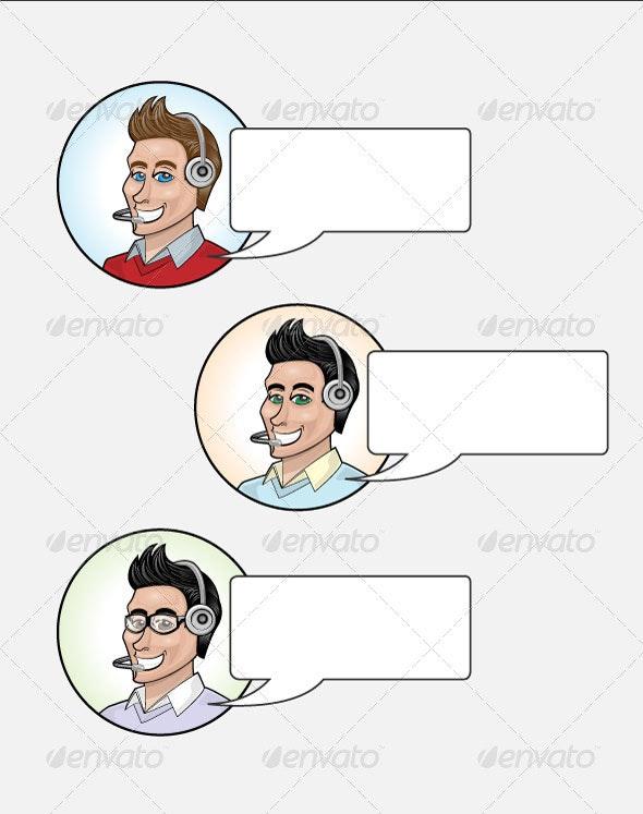 Vector Customer Service Characters  - Characters Vectors