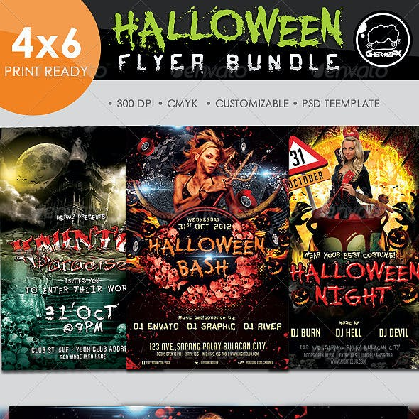 Halloween Bundle Template