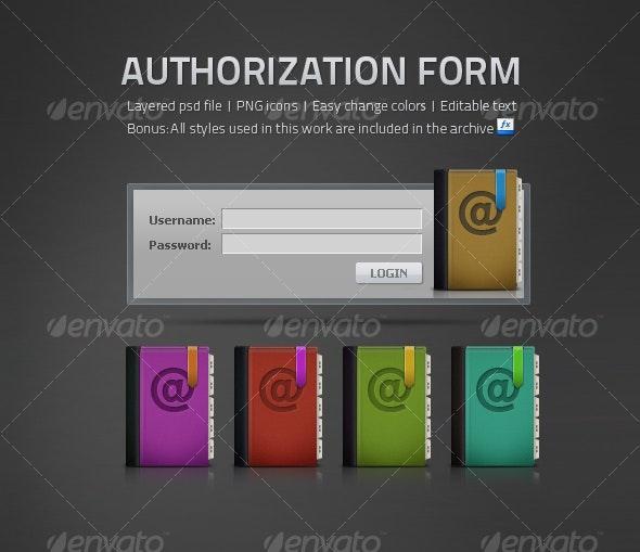 Authorization Form - Forms Web Elements