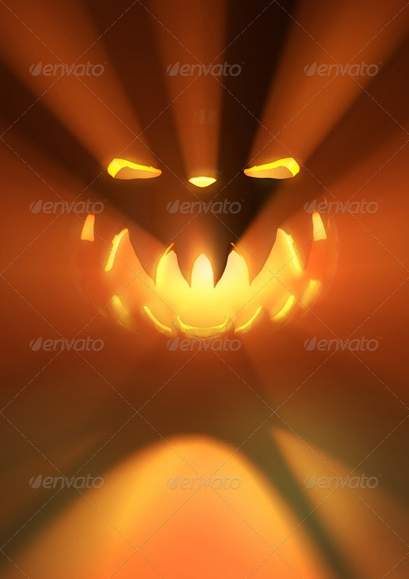 Scary Halloween Pumpkin - Miscellaneous Backgrounds