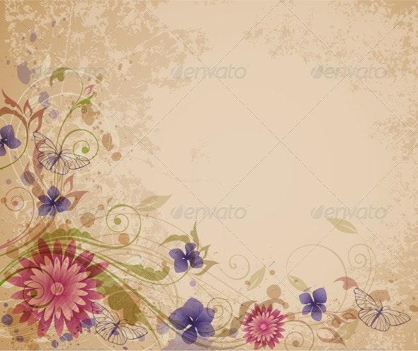 Old Floral Background - Backgrounds Decorative