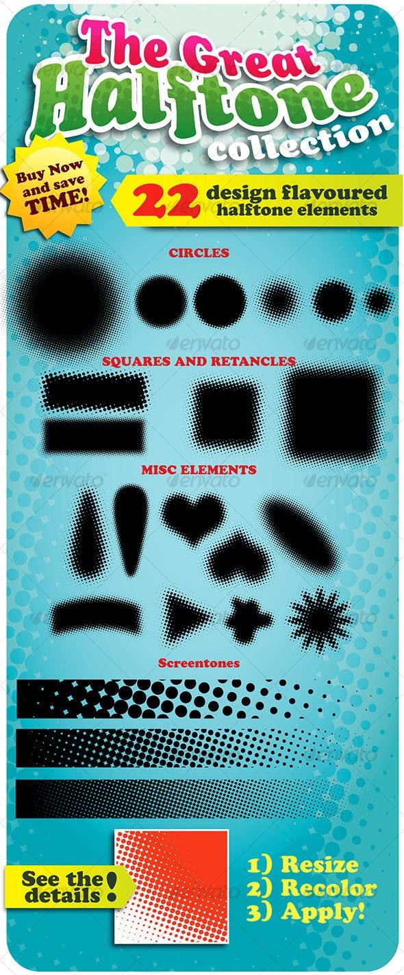 The Great Halftone Collection (22 design elements) - Decorative Symbols Decorative