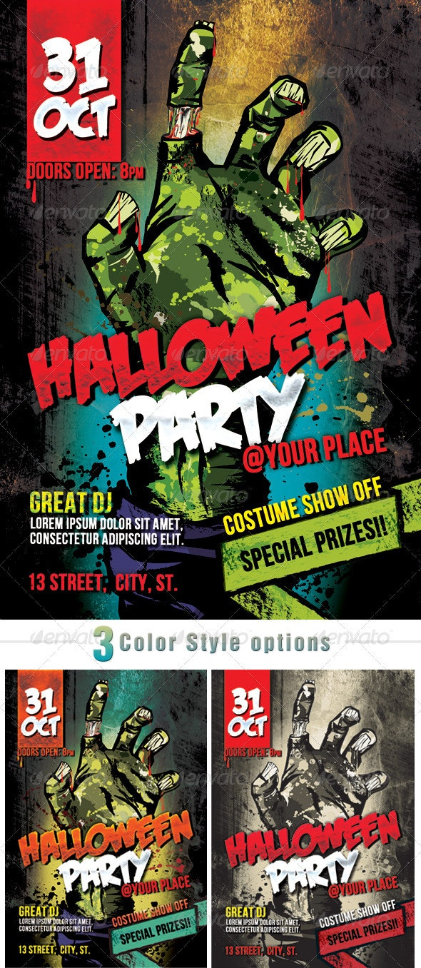 Zombie Halloween Party - Holidays Events