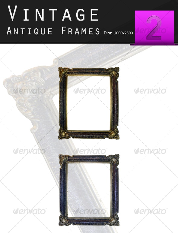 Golden Antique Frame - Home & Office Isolated Objects