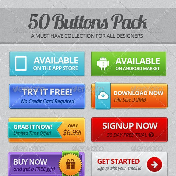 50 Buttons Pack
