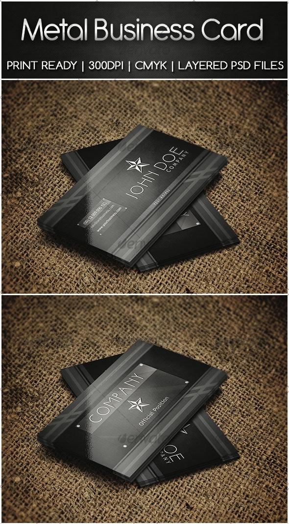Metal Business Card - Business Cards Print Templates