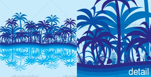 Abstract Jungle Background - Backgrounds Decorative