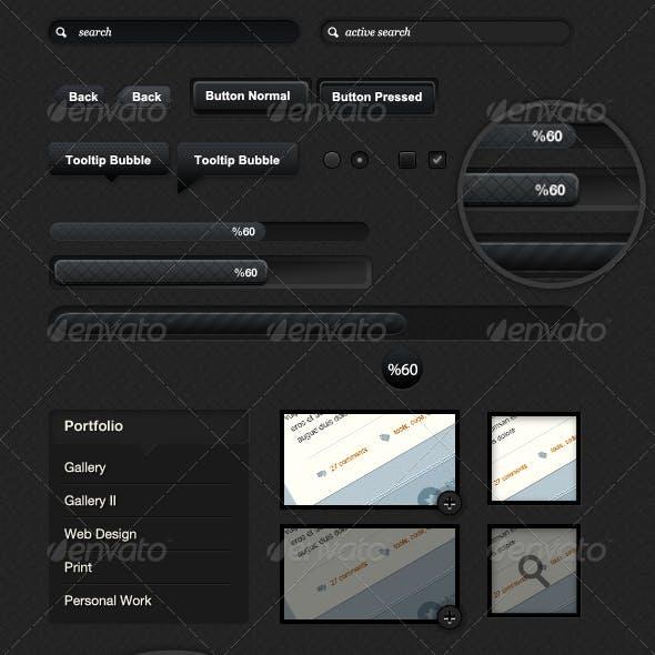 Textured Dark & Light colored UI Elements