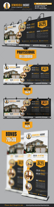 Real Estate Business Billboard - Signage Print Templates