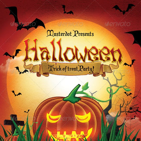 Halloween Day party Poster