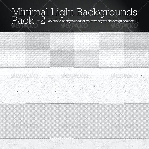 Minimal Light Backgrounds Pack 2