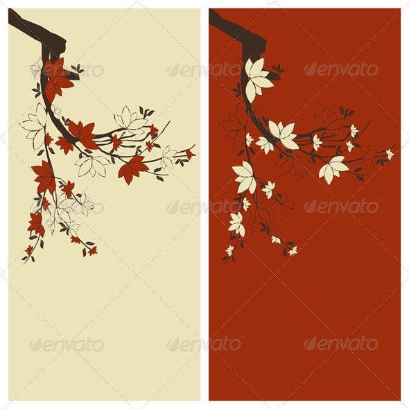 Floral Card Background - Backgrounds Decorative