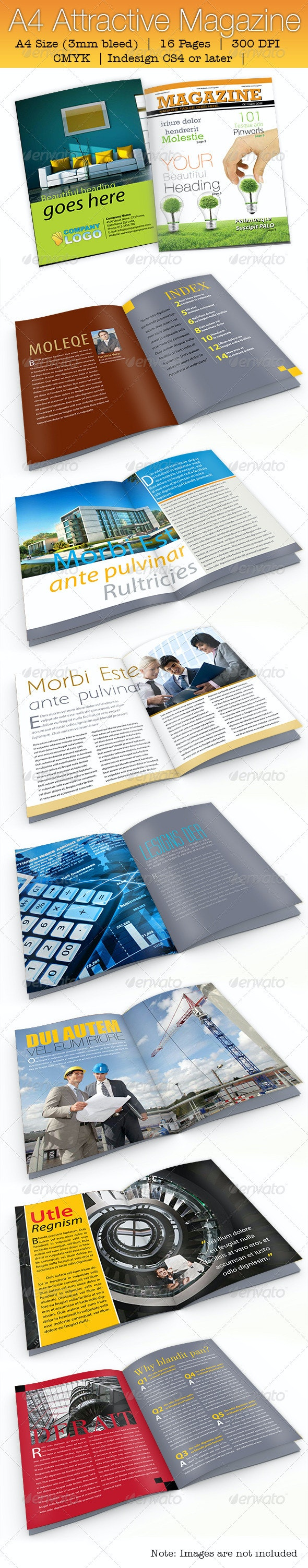 A4 Attractive Magazine - Magazines Print Templates