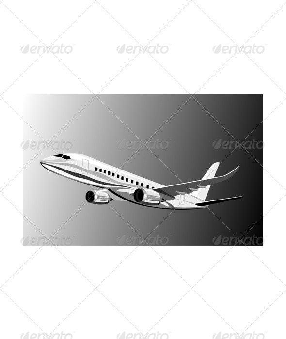 Jumbo jet plane - Travel Conceptual