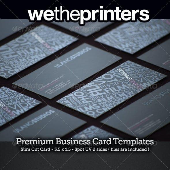 Slim Cut Spot UV Business Card