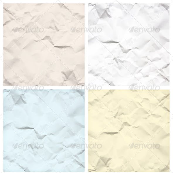 Crumpled Paper Texture Backgrounds
