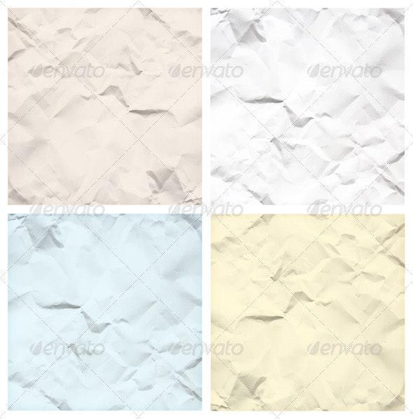 Crumpled Paper Texture Backgrounds - Backgrounds Decorative