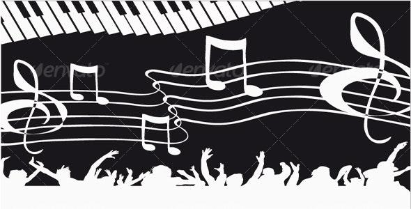 Musical background. Vector illustration. - Backgrounds Decorative