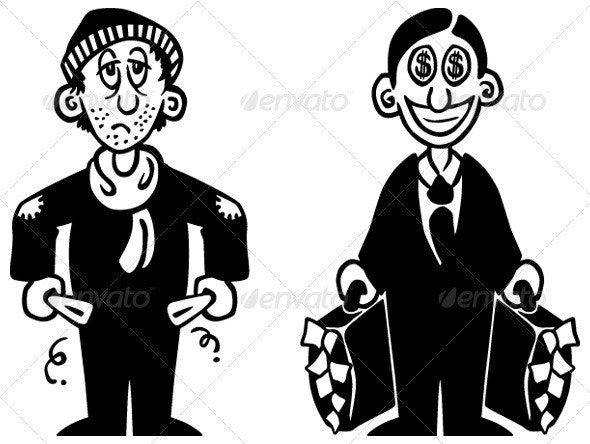 Rich and Poor - People Characters