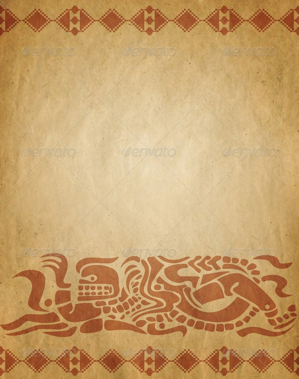 Background in American Indian Style - Abstract Backgrounds