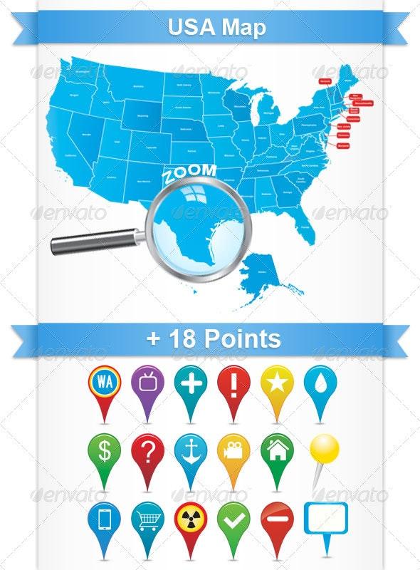 USA Map - Miscellaneous Seasons/Holidays