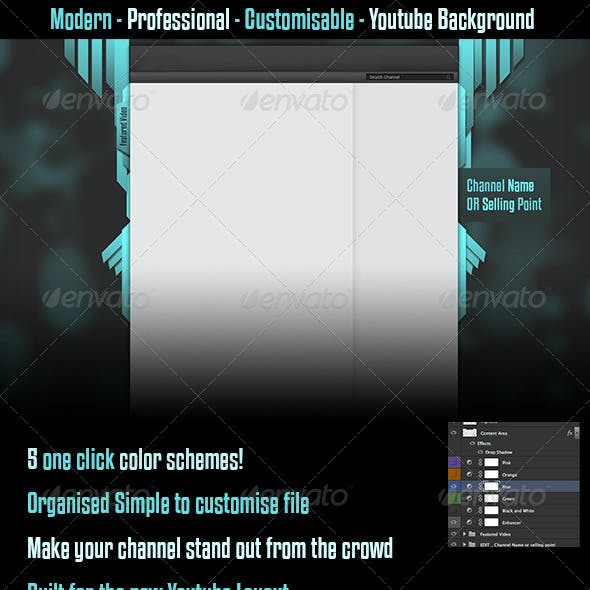 Modern Youtube Background Channel Background