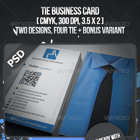 Tie Business Card