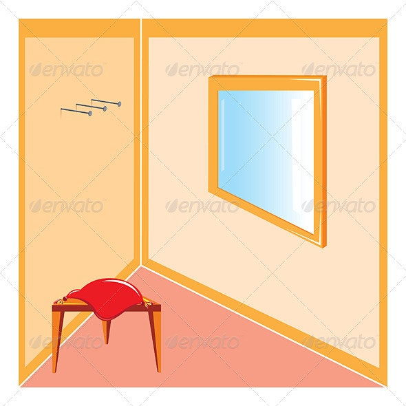 Corner of the room - Borders Decorative