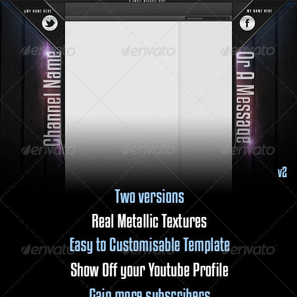 Metallic Youtube Channel Background Template