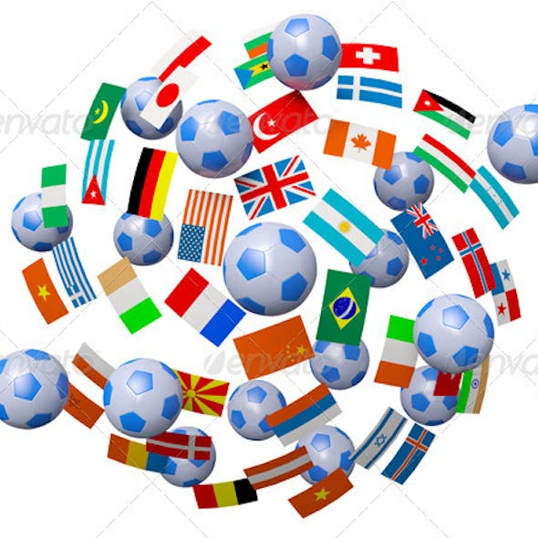 Footballs and Flag