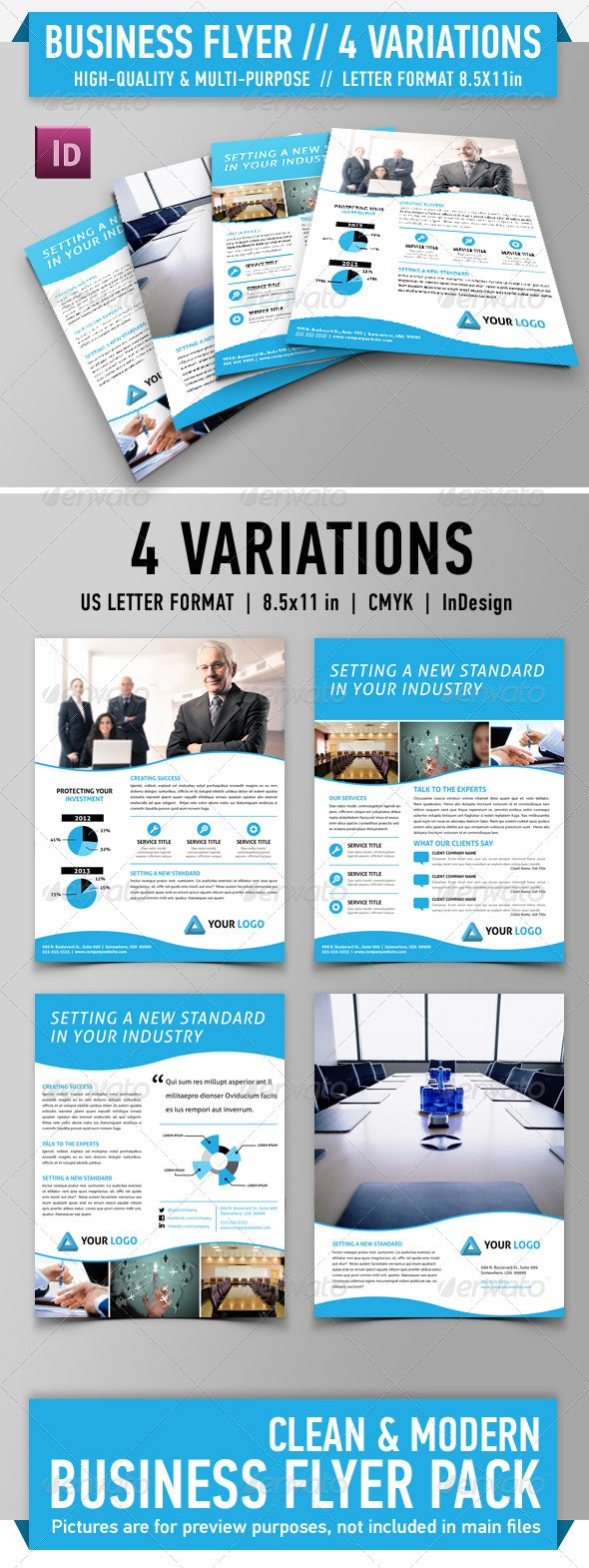 Clean Modern Flyer Pack - Vol. 1 - Corporate Flyers