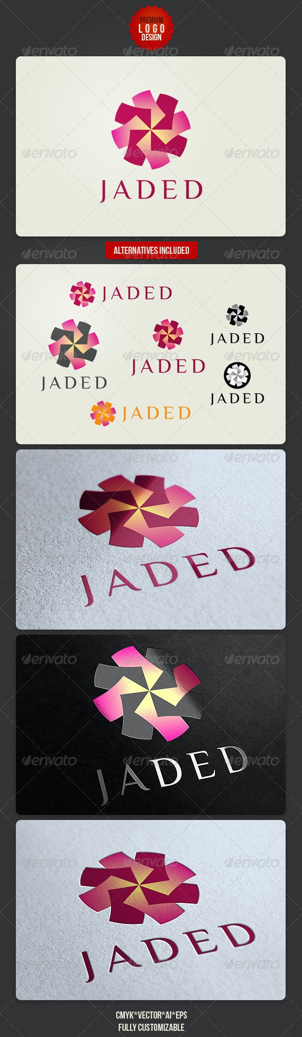 Clean Beauty Logo Design - Abstract Logo Templates