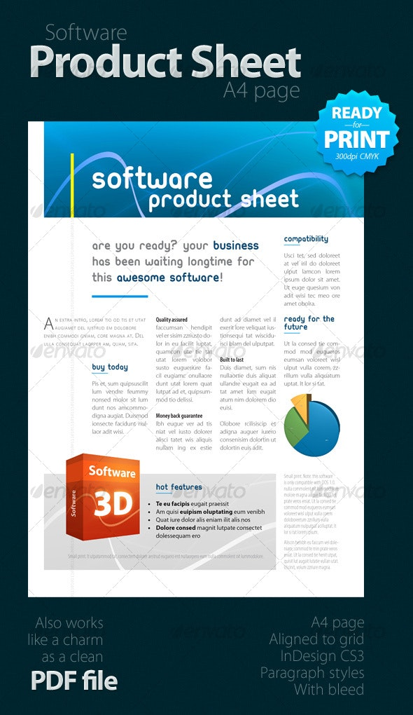 Software Product Sheet (A4) - Corporate Brochures