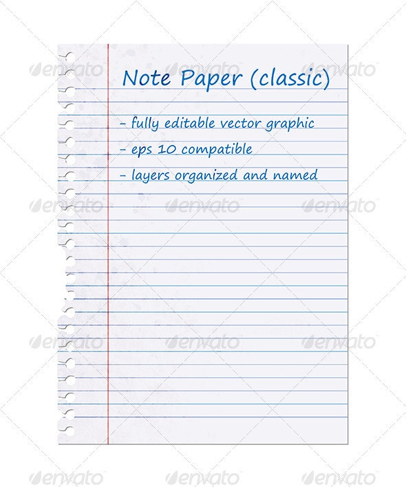 Classic Note Paper, Blank Sheet - Retro Technology