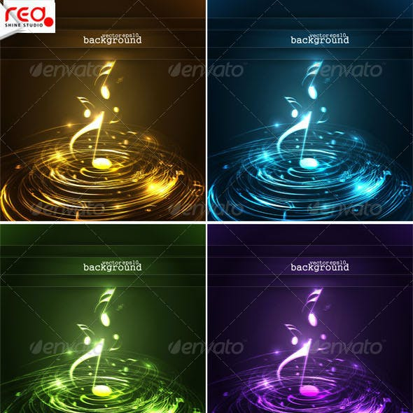 Collection Of Colorful Music Note