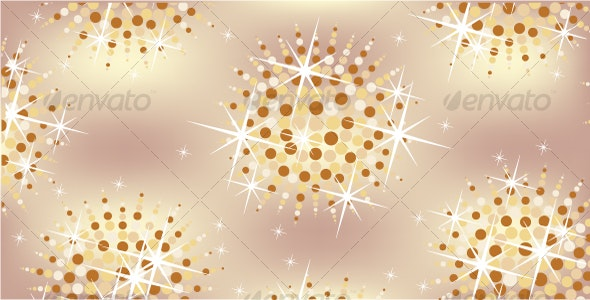 Golden background of the balls. - Backgrounds Decorative