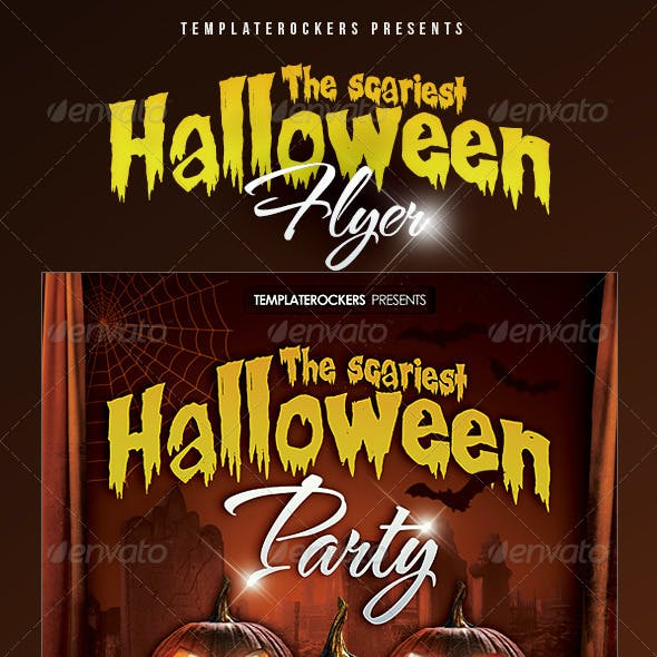 Scariest Halloween Party Flyer - 3 Sizes