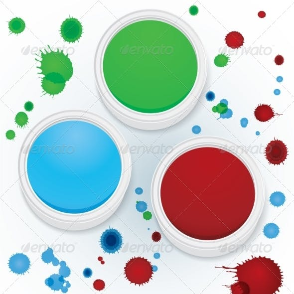 Paint jars vector