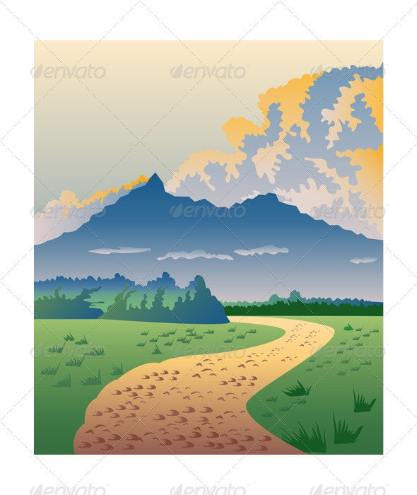 Road Leading to Mountains - Landscapes Nature